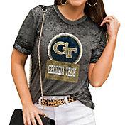 Gameday Couture Women's Georgia Tech Yellow Jackets Grey Boyfriend T-Shirt