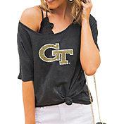 Gameday Couture Women's Georgia Tech Yellow Jackets Grey Vibing Boyfriend T-Shirt