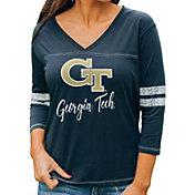Gameday Couture Women's Georgia Tech Yellow Jackets Navy ¾ Sleeve Sport T-Shirt