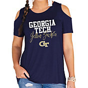 Gameday Couture Women's Georgia Tech Yellow Jackets Navy Cold Shoulder T-Shirt