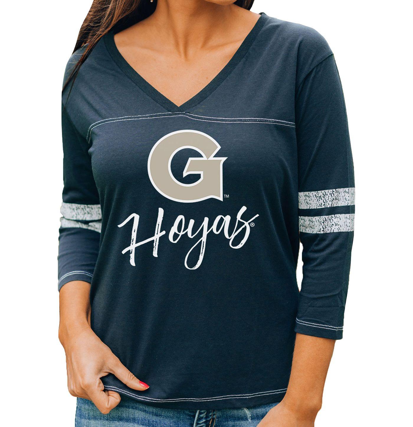 Gameday Couture Women's Georgetown Hoyas Blue ¾ Sleeve Sport T-Shirt