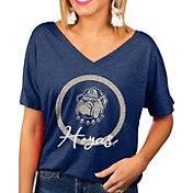 Gameday Couture Women's Georgetown Hoyas Blue Subtle Dolman Sleeve V-Neck T-Shirt