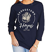 Gameday Couture Women's Georgetown Hoyas Blue Varsity Long Sleeve T-Shirt