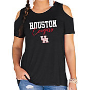 Gameday Couture Women's Houston Cougars Black Cold Shoulder T-Shirt