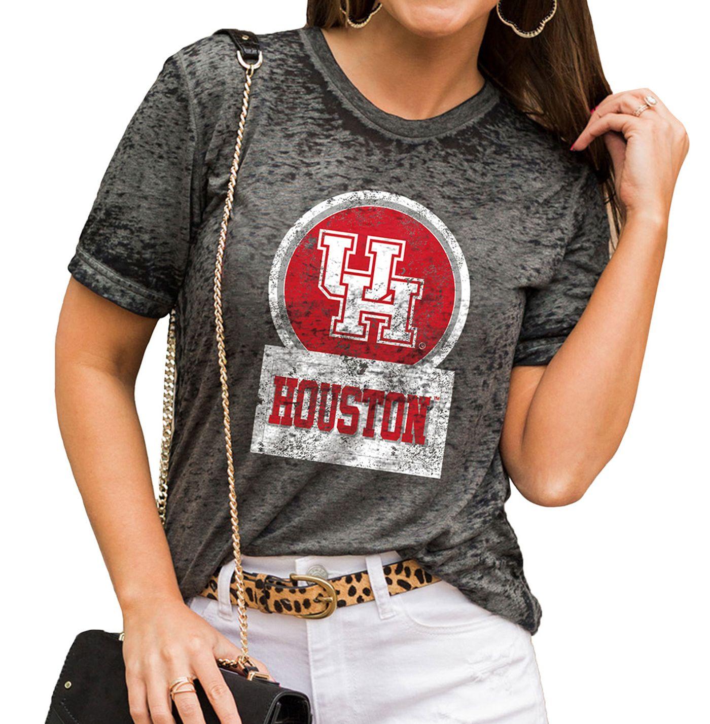 Gameday Couture Women's Houston Cougars Grey Boyfriend T-Shirt