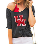 Gameday Couture Women's Houston Cougars Grey Vibing Boyfriend T-Shirt