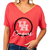 Gameday Couture Women's Houston Cougars Red Subtle Dolman Sleeve V-Neck T-Shirt