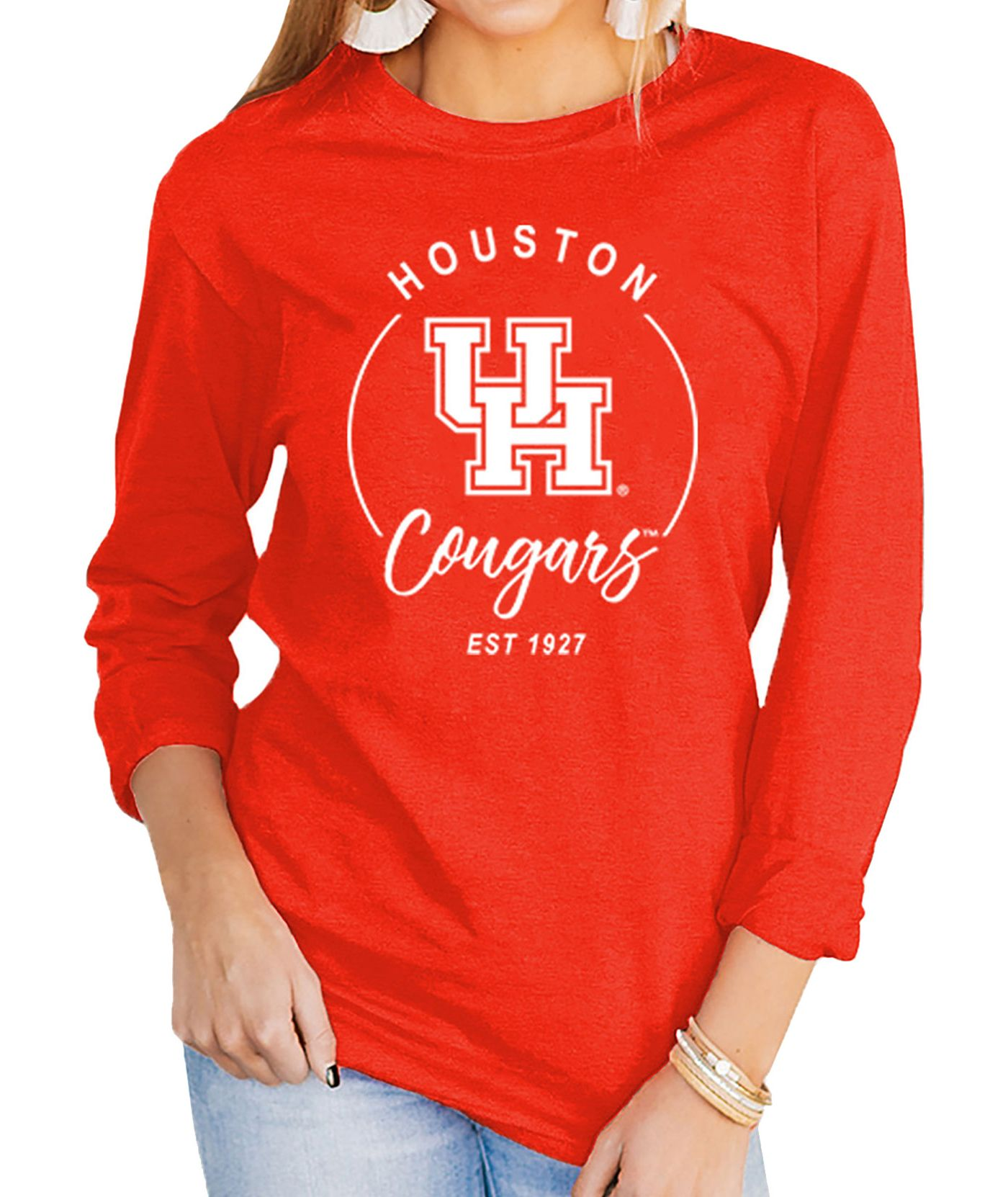 Gameday Couture Women's Houston Cougars Red Varsity Long Sleeve T-Shirt