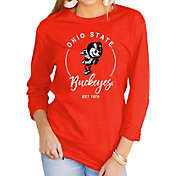 Gameday Couture Women's Ohio State Buckeyes Scarlet Varsity Long Sleeve T-Shirt