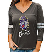 Gameday Couture Women's James Madison Dukes Grey ¾ Sleeve Sport T-Shirt