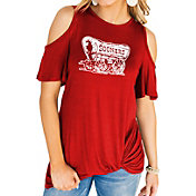 Gameday Couture Women's Oklahoma Sooners Crimson Alma Mater Cold Shoulder T-Shirt