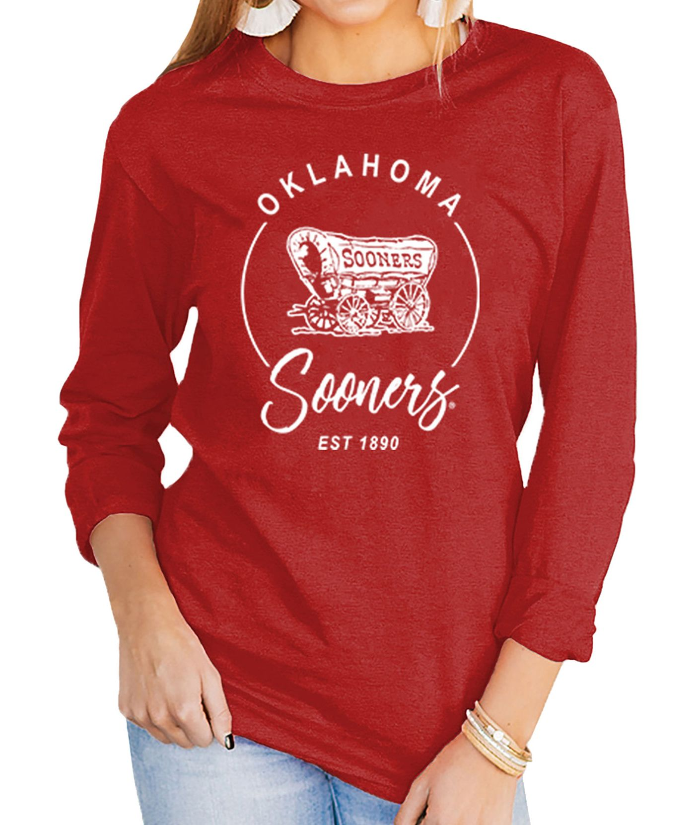 Gameday Couture Women's Oklahoma Sooners Crimson Varsity Long Sleeve T-Shirt