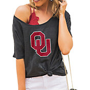 Gameday Couture Women's Oklahoma Sooners Grey Vibing Boyfriend T-Shirt