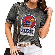 Gameday Couture Women's Kansas Jayhawks Grey Boyfriend T-Shirt