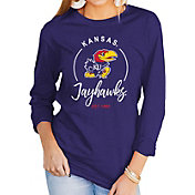Gameday Couture Women's Kansas Jayhawks Blue Varsity Long Sleeve T-Shirt