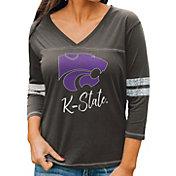 Gameday Couture Women's Kansas State Wildcats Grey ¾ Sleeve Sport T-Shirt