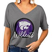 Gameday Couture Women's Kansas State Wildcats Grey Subtle Dolman Sleeve V-Neck T-Shirt