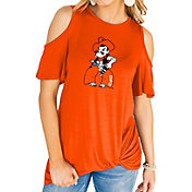 Gameday Couture Women's Oklahoma State Cowboys Orange Alma Mater Cold Shoulder T-Shirt