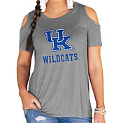 Gameday Couture Women's Kentucky Wildcats Grey Cold Shoulder T-Shirt