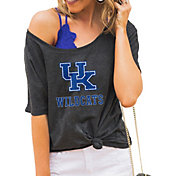 Gameday Couture Women's Kentucky Wildcats Grey Vibing Boyfriend T-Shirt