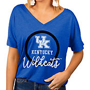Gameday Couture Women's Kentucky Wildcats Blue Subtle Dolman Sleeve V-Neck T-Shirt