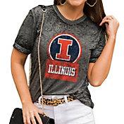 Gameday Couture Women's Illinois Fighting Illini Grey Boyfriend T-Shirt