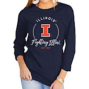 Gameday Couture Women's Illinois Fighting Illini Blue Varsity Long Sleeve T-Shirt