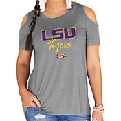 Gameday Couture Women's LSU Tigers Grey Cold Shoulder T-Shirt