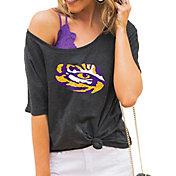 Gameday Couture Women's LSU Tigers Grey Vibing Boyfriend T-Shirt
