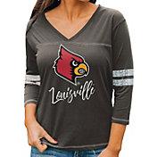 Gameday Couture Women's Louisville Cardinals Grey ¾ Sleeve Sport T-Shirt