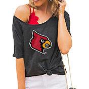 Gameday Couture Women's Louisville Cardinals Grey Vibing Boyfriend T-Shirt