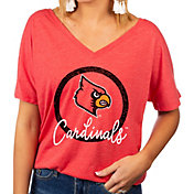 Gameday Couture Women's Louisville Cardinals Cardnial Red Subtle Dolman Sleeve V-Neck T-Shirt