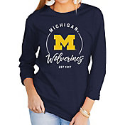 Gameday Couture Women's Michigan Wolverines Blue Varsity Long Sleeve T-Shirt