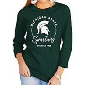 Gameday Couture Women's Michigan State Spartans Green Varsity Long Sleeve T-Shirt