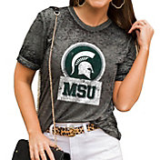 Gameday Couture Women's Michigan State Spartans Grey Boyfriend T-Shirt