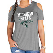 Gameday Couture Women's Michigan State Spartans Grey Cold Shoulder T-Shirt