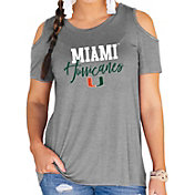 Gameday Couture Women's Miami Hurricanes Grey Cold Shoulder T-Shirt