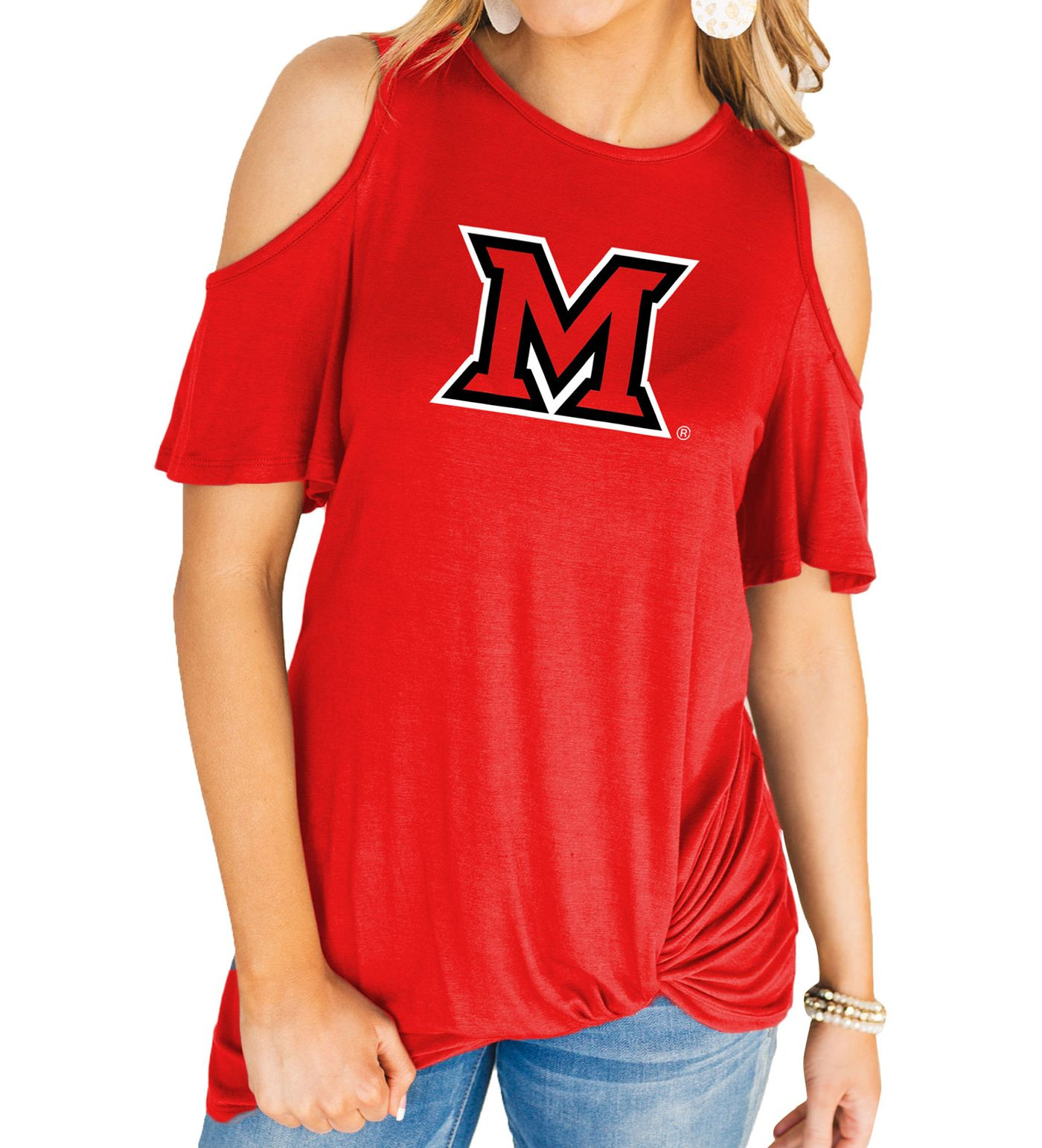 Gameday Couture Women's Miami RedHawks Red Alma Mater Cold Shoulder T-Shirt