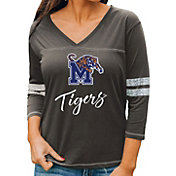 Gameday Couture Women's Memphis Tigers Grey ¾ Sleeve Sport T-Shirt