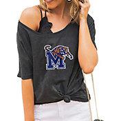 Gameday Couture Women's Memphis Tigers Grey Vibing Boyfriend T-Shirt
