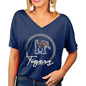 Gameday Couture Women's Memphis Tigers Blue Subtle Dolman Sleeve V-Neck T-Shirt