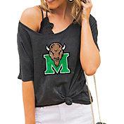 Gameday Couture Women's Marshall Thundering Herd Grey Vibing Boyfriend T-Shirt