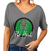 Gameday Couture Women's Marshall Thundering Herd Grey Subtle Dolman Sleeve V-Neck T-Shirt