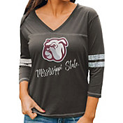 Gameday Couture Women's Mississippi State Bulldogs Grey ¾ Sleeve Sport T-Shirt