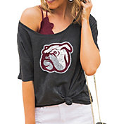 Gameday Couture Women's Mississippi State Bulldogs Grey Vibing Boyfriend T-Shirt