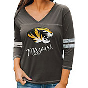 Gameday Couture Women's Missouri Tigers Grey ¾ Sleeve Sport T-Shirt