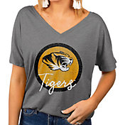 Gameday Couture Women's Missouri Tigers Grey Subtle Dolman Sleeve V-Neck T-Shirt