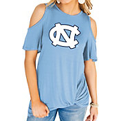 Gameday Couture Women's North Carolina Tar Heels Carolina Blue Alma Mater Cold Shoulder T-Shirt