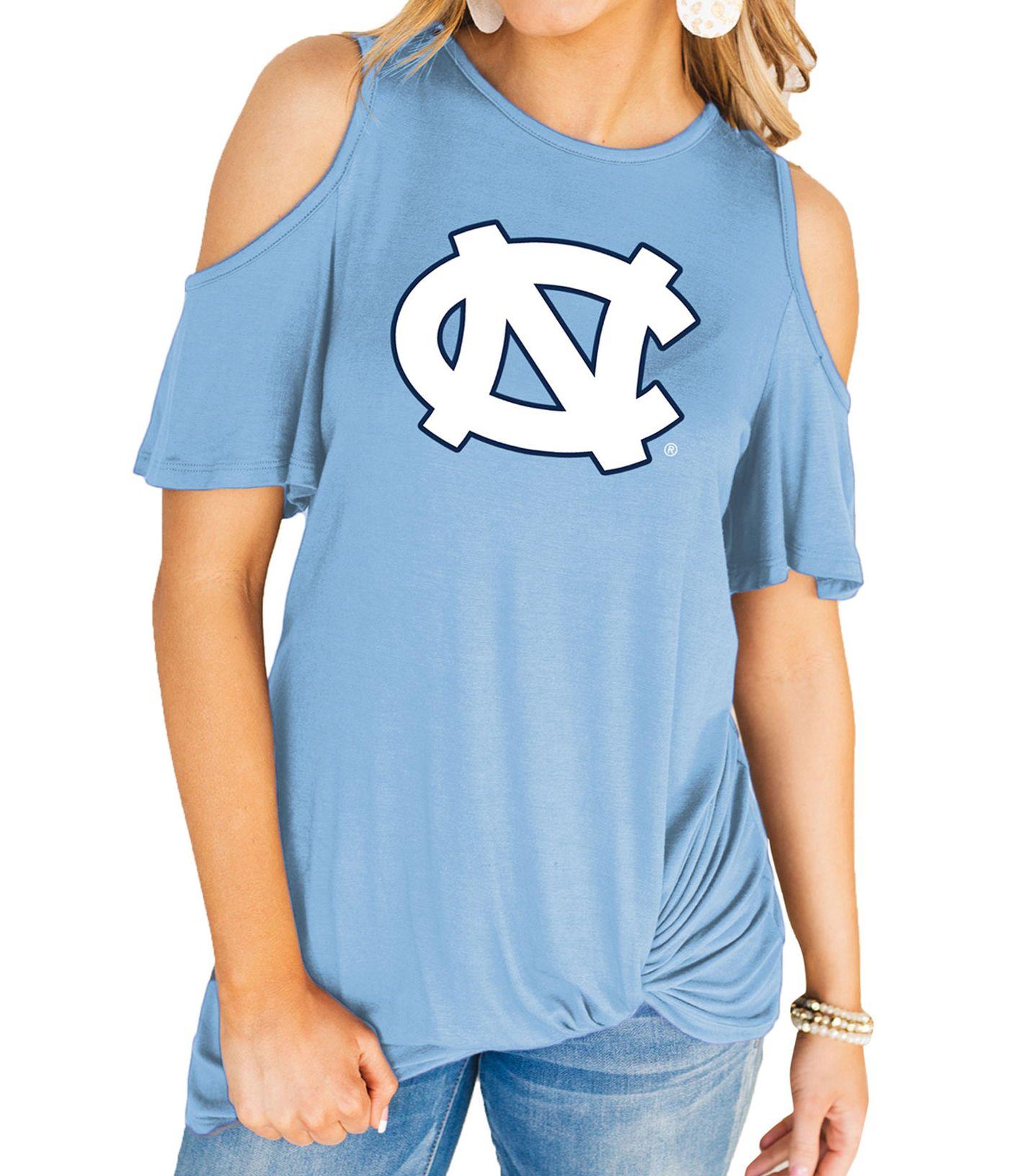 Gameday Couture Women's North Carolina Tar Heels Carolina Blue Alma Mater Cold Shoulder T-Shirt