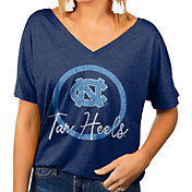 Gameday Couture Women's North Carolina Tar Heels Navy Subtle Dolman Sleeve V-Neck T-Shirt